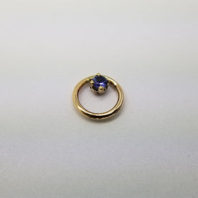 Local Natives | 14k Yellow Gold & AA Tanzanite Hoop Dream - Avanti Body Piercing & Fine Jewelry
