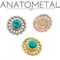 Anatometal | 18k Gold Virtue Threadless End - Avanti Body Piercing & Fine Jewelry
