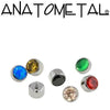 Anatometal | 14g Sm Bezel-Set Gem Threaded End - Avanti Body Piercing & Fine Jewelry