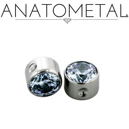 Anatometal | 18g Captive Sm Bezel-Set Gem Bead - Avanti Body Piercing & Fine Jewelry