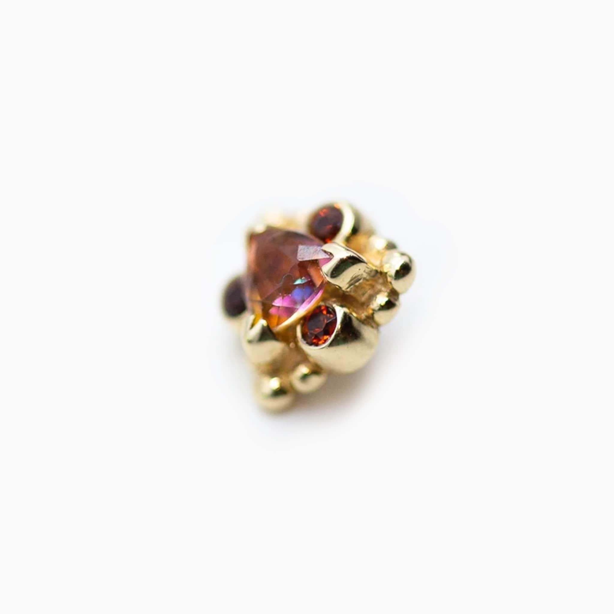 BVLA | Threaded 14K Yellow Gold Helena End