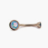 BVLA | 14k Rose Gold Water Opal Slim Line Navel Ring
