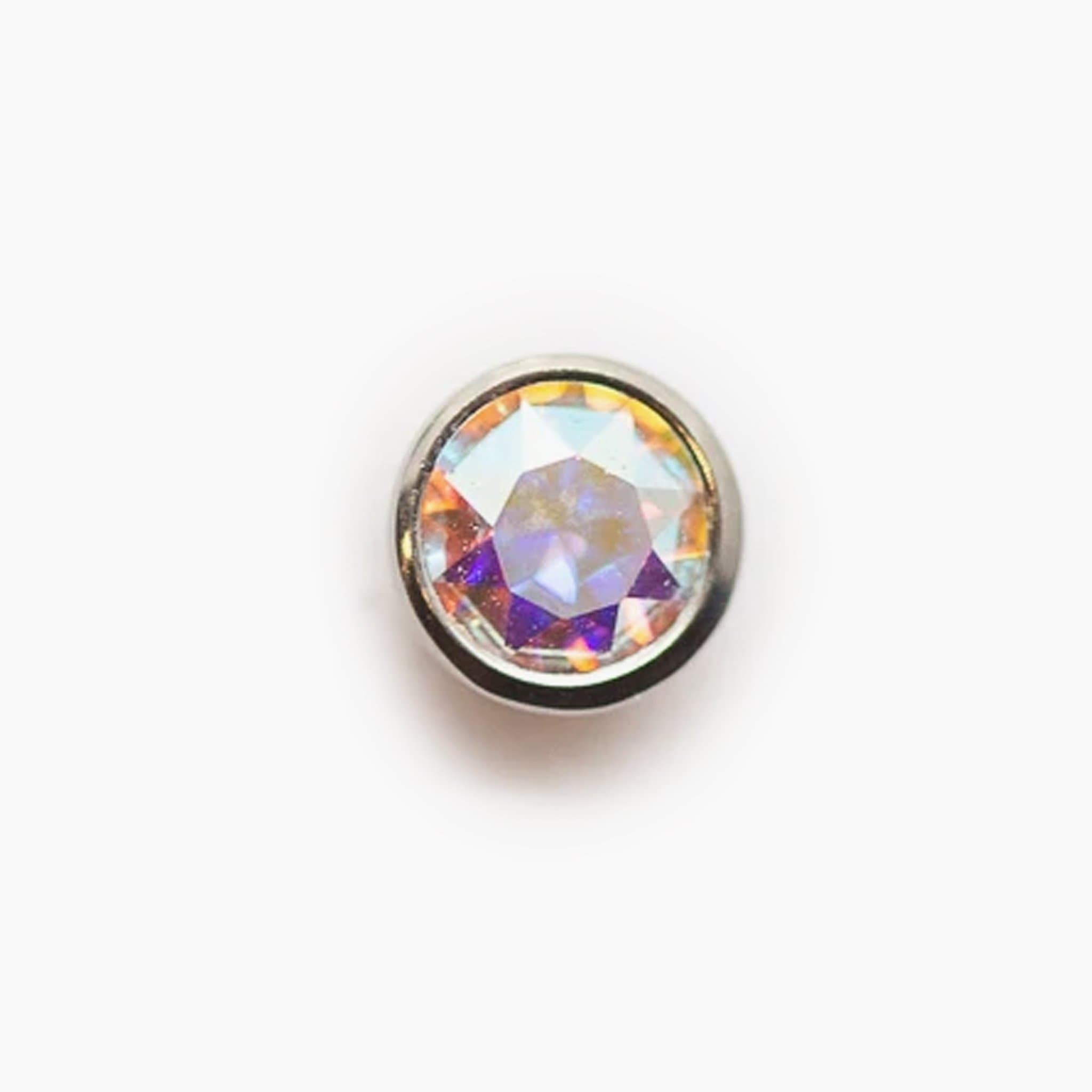 Threadless Bezel Set Gem Top