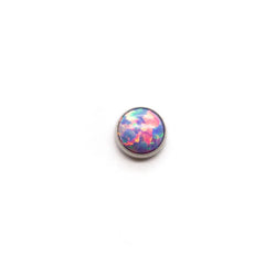 Threadless Bezel Set Opal Cabochon Top
