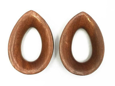Diablo Organics | Wood Teardrop Eyelet Pair - Avanti Body Piercing & Fine Jewelry