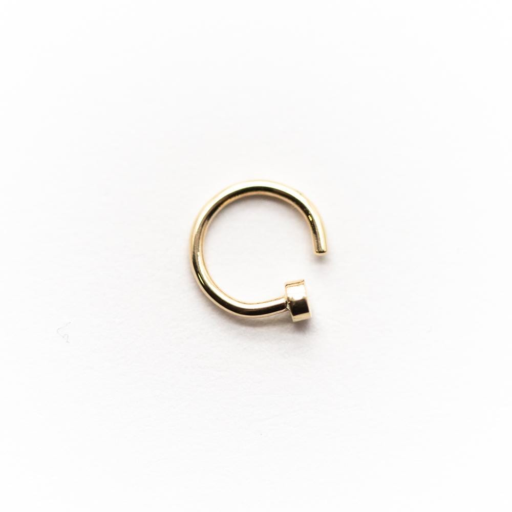 14k Gold Nostril Nail
