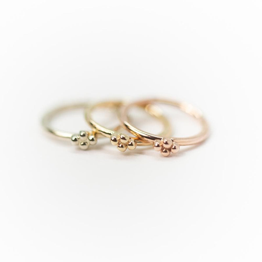 Local Natives | 14k Gold Quadbead Seam Ring