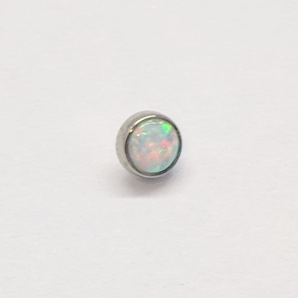 Anatometal | Bezel-Set Opal Threaded End - Avanti Body Piercing & Fine Jewelry