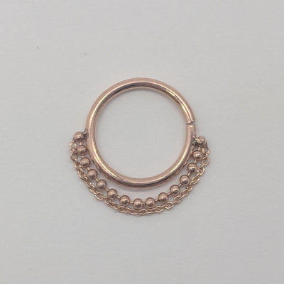 Pupil Hall | 14k Double Chain Seam Ring - Avanti Body Piercing & Fine Jewelry