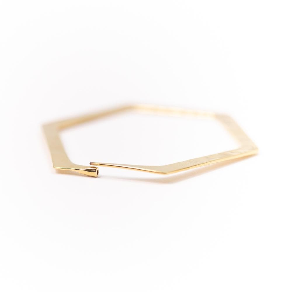 Tawapa | Hexagon Hoop Earring Pair