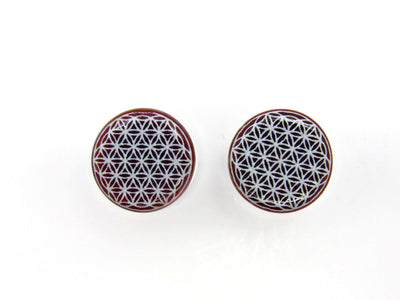 "Glasswear Studios | 11/16"" Flower of Life Plugs - Avanti Body Jewelry  - 2"