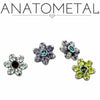 Anatometal | Flower Threaded End - Avanti Body Piercing & Fine Jewelry