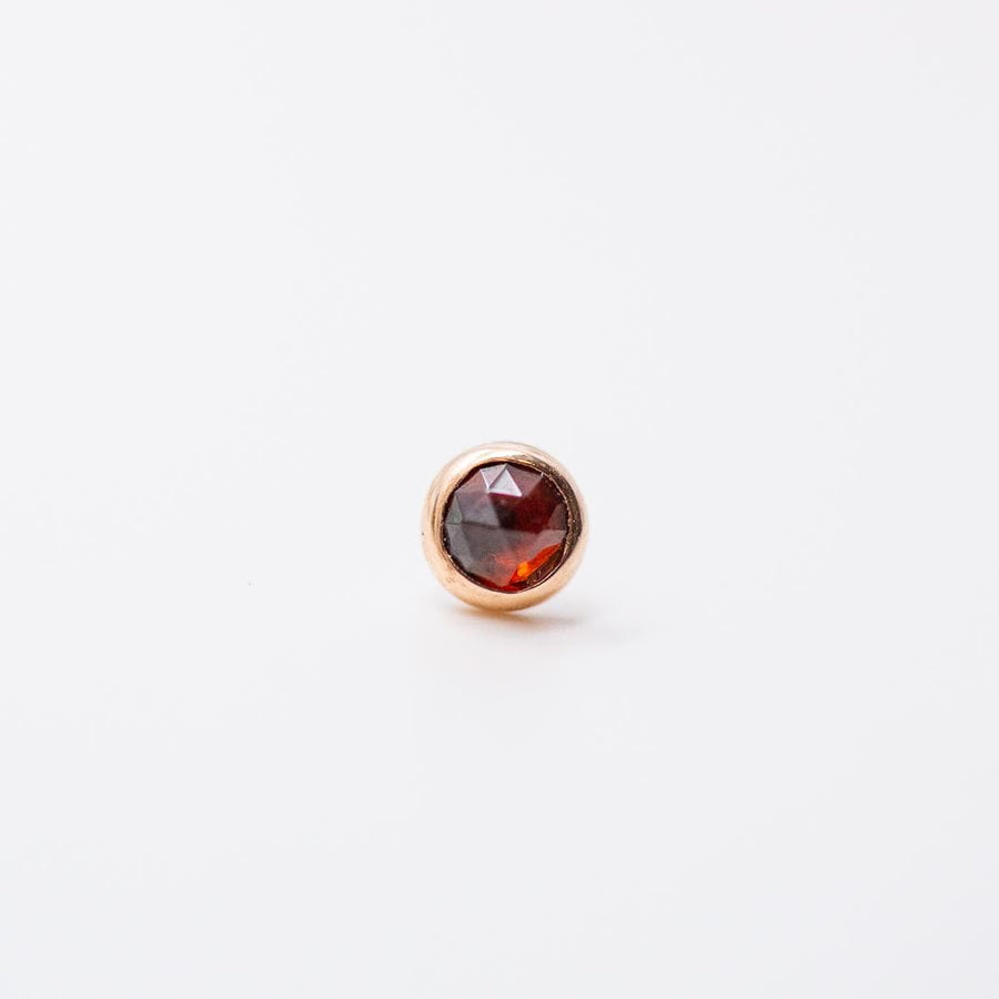 Local Natives | 14k Gold Rose Cut Garnet Threadless End