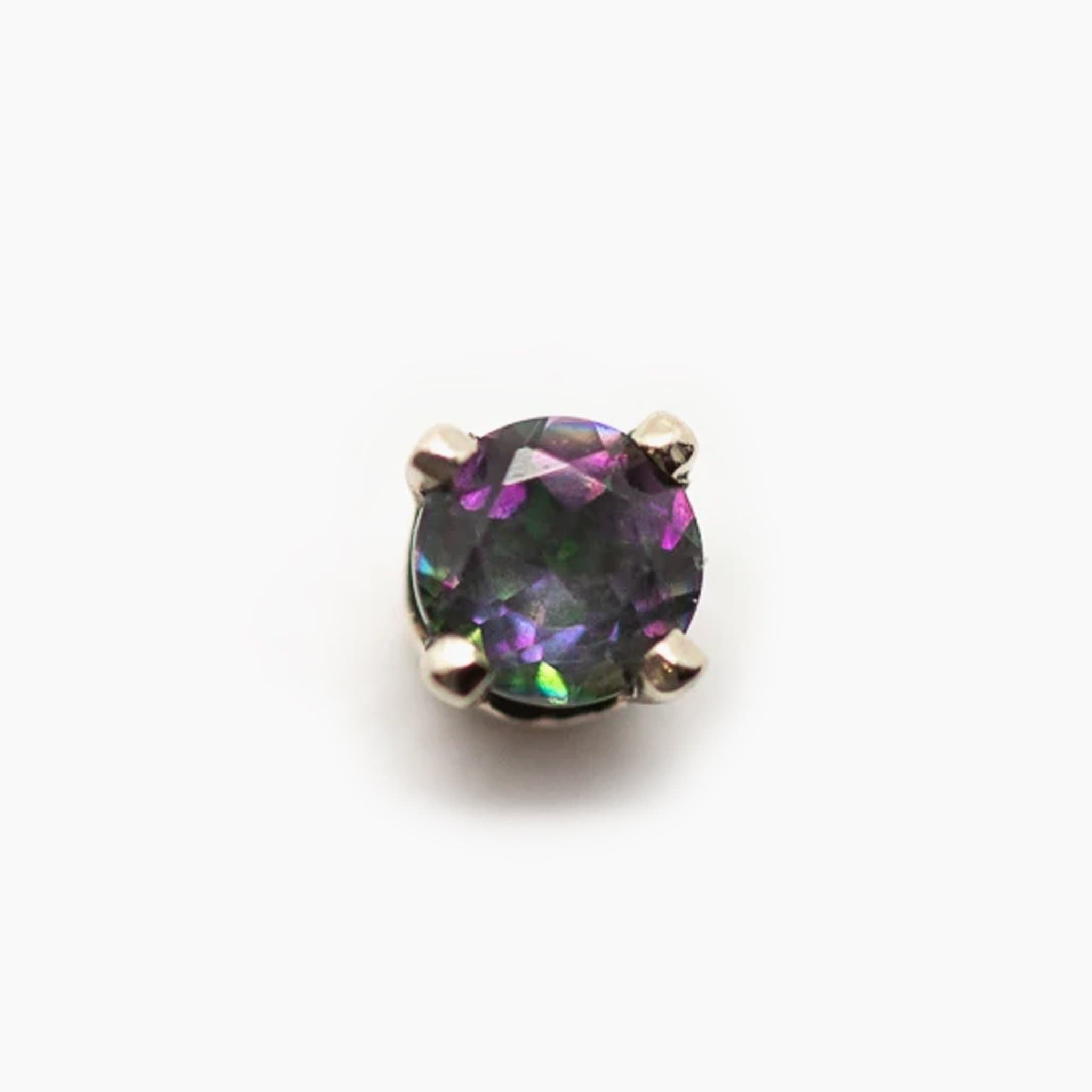 Threadless 14k Gold Mystic Topaz Ends