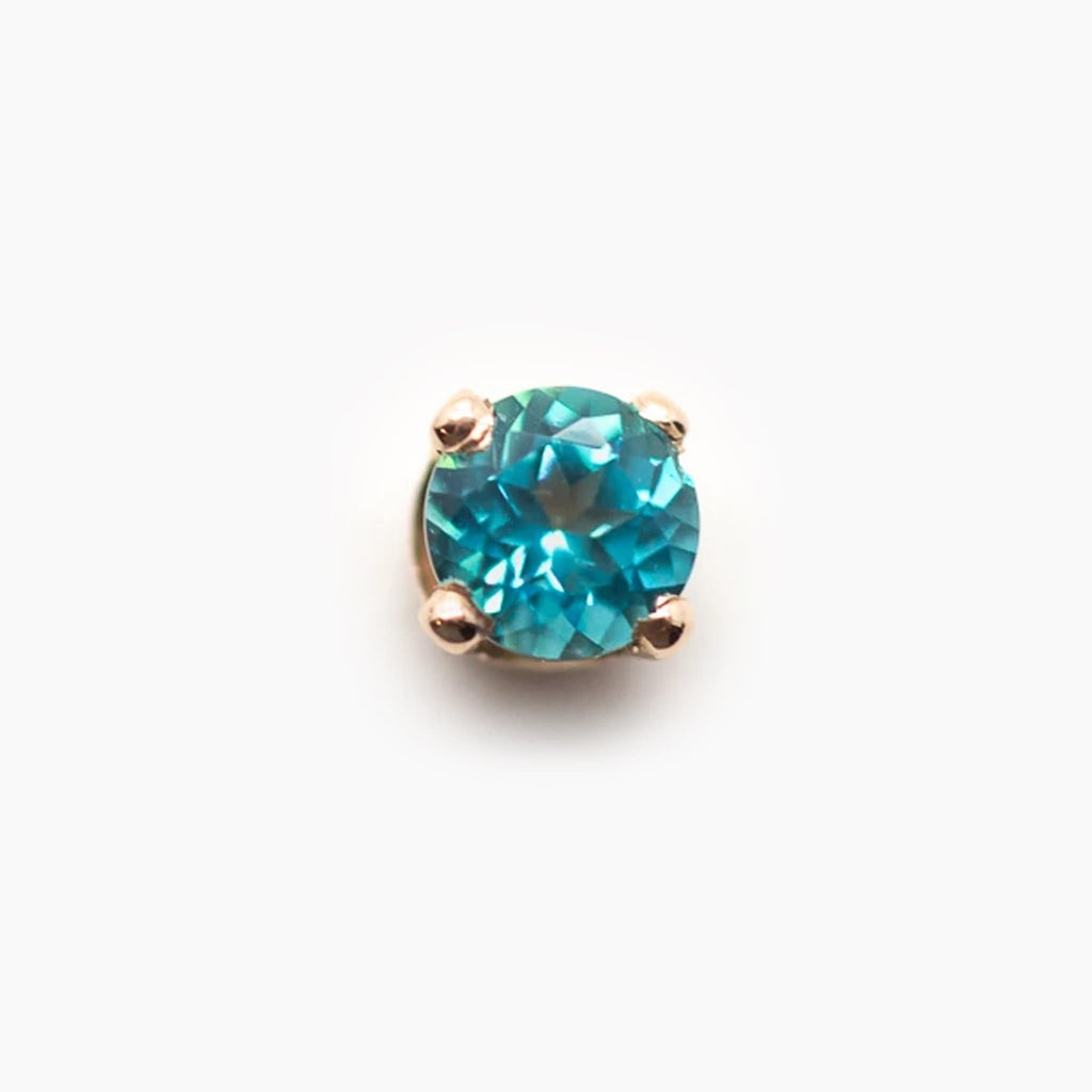 Threadless 14k Gold Paraiba Topaz Ends