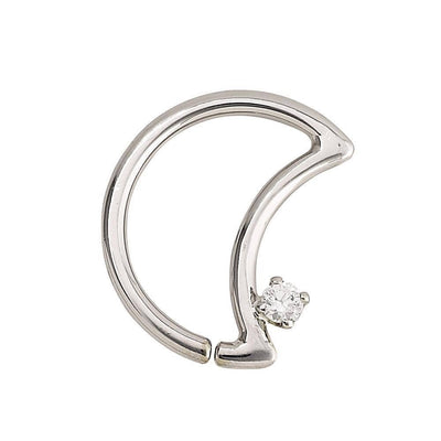 14K Gold LunEAR Daith Moon - Avanti Body Jewelry  - 3