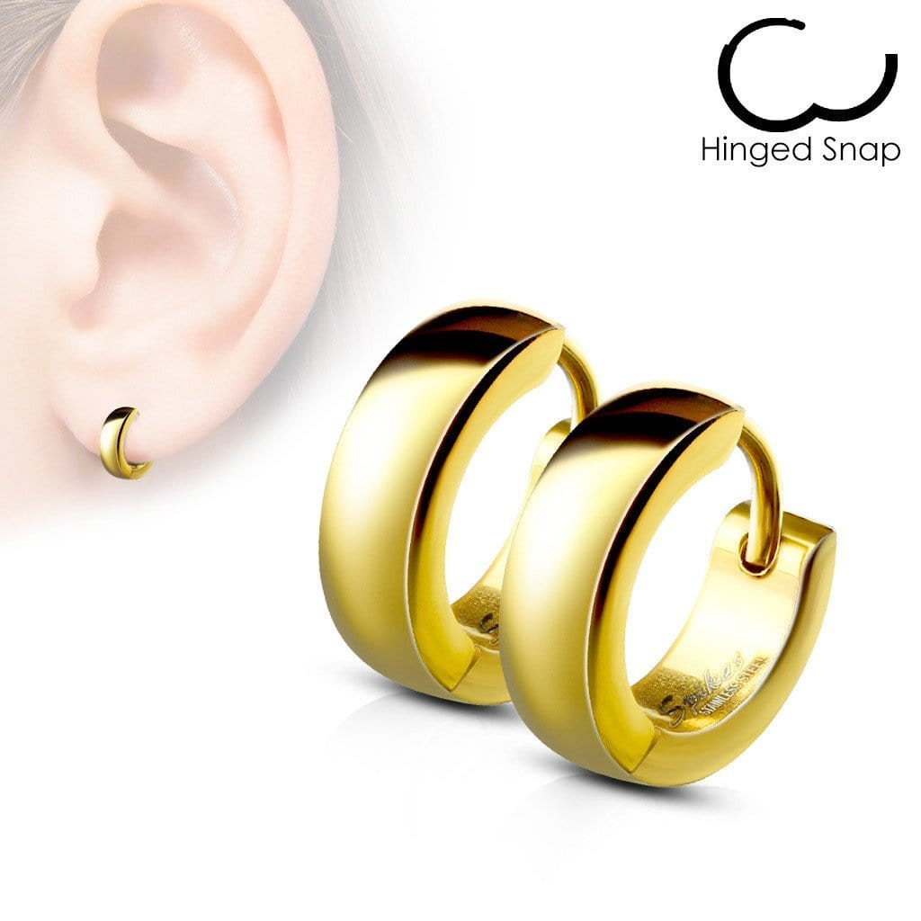 Simple Hinged Hoop Earring Pair - Avanti Body Piercing & Fine Jewelry