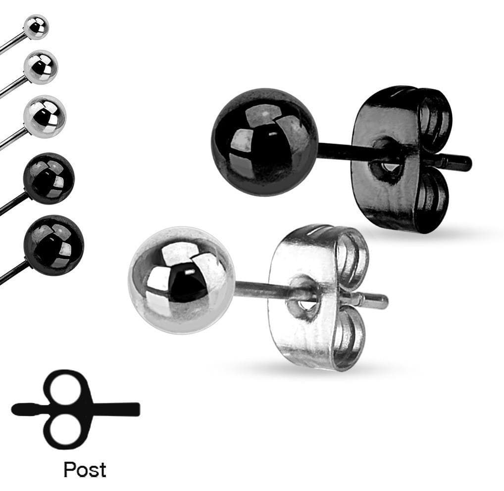 Simple Ball Earring Pair - Avanti Body Jewelry  - 1