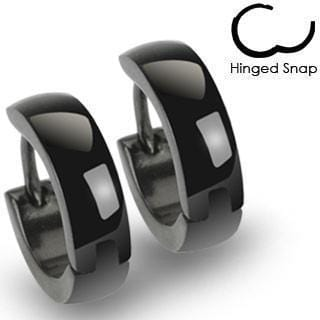 Simple Hinged Hoop Earring Pair - Avanti Body Jewelry  - 2