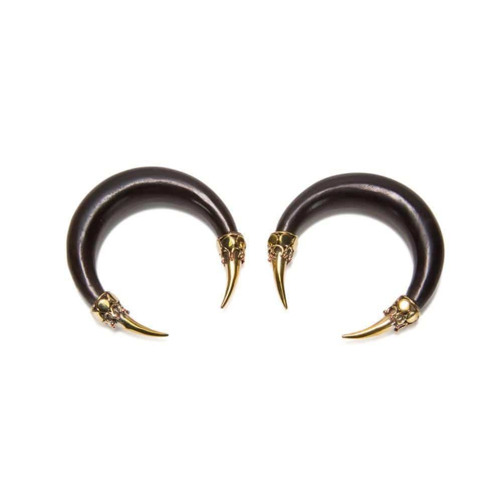 Bronze Claw Areng Wood Pinchers - Avanti Body Jewelry  - 1