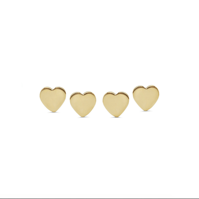 14k Gold Heart Threadless End - Avanti Body Piercing & Fine Jewelry