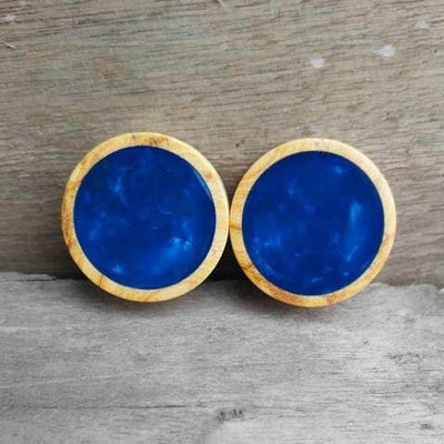 OMW | Marble Resin Inlay Wood Plug Pair - Avanti Body Piercing & Fine Jewelry