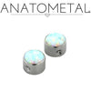 Anatometal | Captive Bezel-Set Opal Bead - Avanti Body Piercing & Fine Jewelry