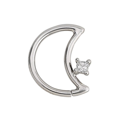 14K Gold LunEAR Daith Moon - Avanti Body Jewelry  - 6