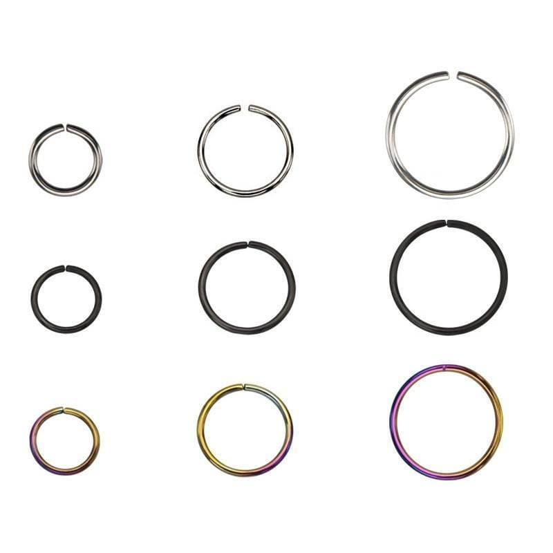 Split Ring Nose Hoops - Avanti Body Jewelry