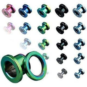 Anodized Screw Fit Tunnel Pair - Avanti Body Jewelry  - 1