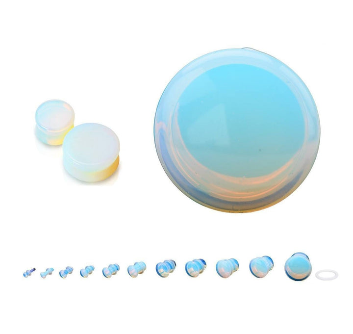 Opalite Stone Plug Pair - Avanti Body Jewelry  - 1