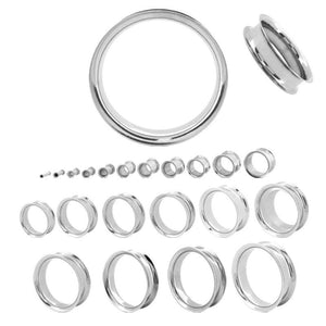 Simple Stainless Steel Tunnel Pair - Avanti Body Jewelry  - 4