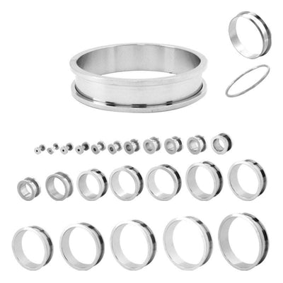 Stainless Steel Screw Fit Tunnels - Avanti Body Jewelry  - 2
