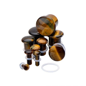 Tigers Eye Stone Plug Pair - Avanti Body Jewelry  - 3