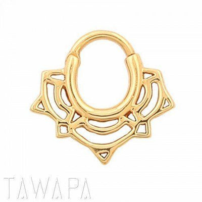 Tawapa Lace Lotus Septum Clicker - Avanti Body Jewelry  - 1