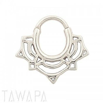 Tawapa Lace Lotus Septum Clicker - Avanti Body Jewelry  - 3