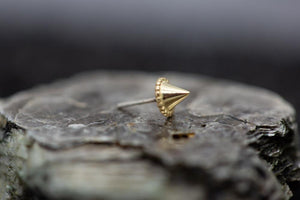 Threadless 14k Gold Millgrain Spike Ends
