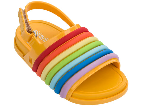 Mini Melissa Beach Slide Sandal Rainbow Bb