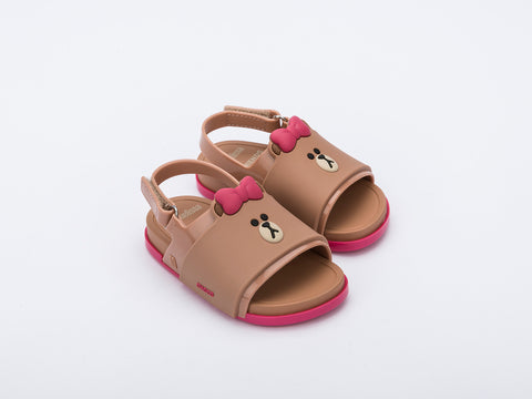 Mini Melissa Beach Slide Sandal + LINE FRIENDS Bb