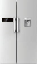 660 Litre Side-by-Side Refrigerator S/S Finish + Water Dispenser - BravePanda