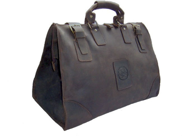 Vintage Crazy Horse Genuine Leather Travel Bag