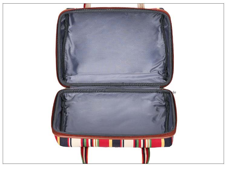 20 Inch Oxford Rolling Luggage Set