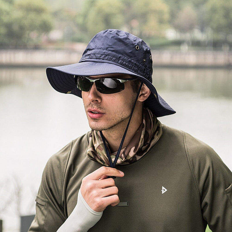 Wide Brim Bucket Hat