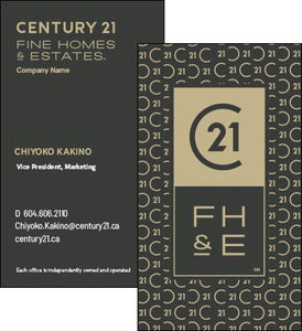C21-BC-FHE-01 Fine Homes & Estates Business Cards