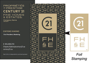 C21-BC-FHE-B01 Fine Homes & Estates Business Cards
