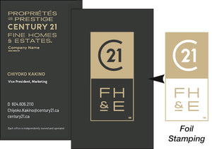 C21-BC-FHE-B02 Fine Homes & Estates Business Cards