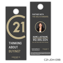"Load image into Gallery viewer, Century 21 Jumbo Door Hangers (4.25 x 11"")"