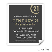 "Load image into Gallery viewer, Century 21 Labels (2"" x 1.75"")"