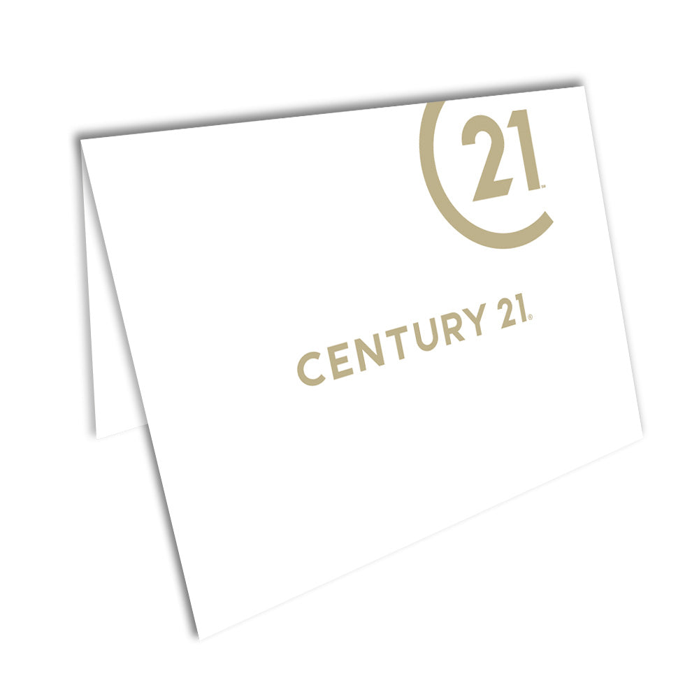 Century 21 Foiled Note Cards