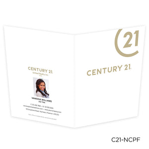 Century 21 Printed Note Cards with Foil